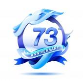 73  years anniversary decorative background