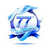 77  years anniversary decorative background