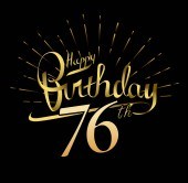 76  years anniversary Happy birthday  logo decorative background