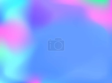 Illustration for Abstract blurred gradient mesh background. Colorful smooth banner template.Trendy creative vector. Intense blank Holographic spectrum gradient for cover. - Royalty Free Image