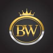 vector illustration of  golden letters bw