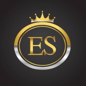 vector illustration of  golden letters es