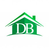 vector illustration of real estate with letters DB