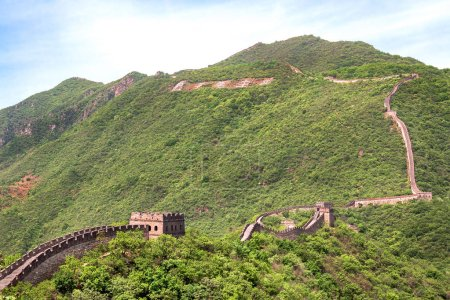 Mountain landscape of the site of the Great Wall of China Mutianyu
