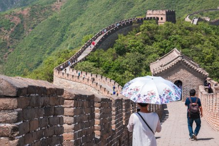 Tourists on the Great Wall of China