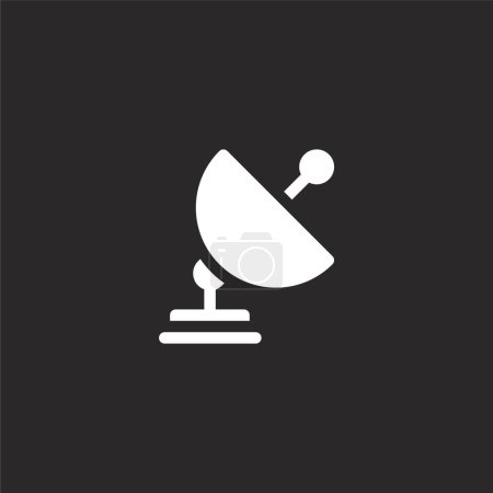 Antenna icon. Filled antenna icon for website desi...