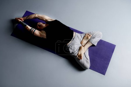 Yoga. Yoga master practicing yoga. Meditation, concentration. Healthy lifestyle.