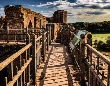 grounds of kenilworth castle english heritage warwickshire england uk