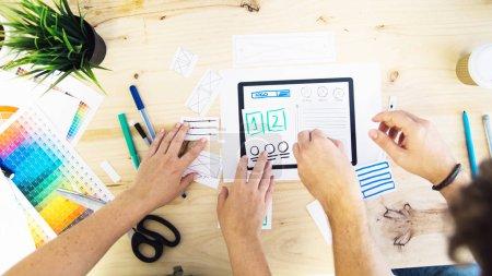 UX tablet designers working