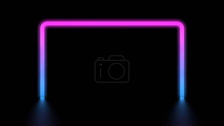 Photo pour Rougeoyante vibrante néon coloré carré - image libre de droit
