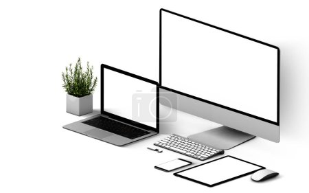 Photo for Devices responsive  isolated 3d rendering mockup - Royalty Free Image