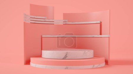Photo for Product presentation pink stage 3d rendering - Royalty Free Image