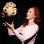 Fashion, artistic portrait of a beautiful redhead ...