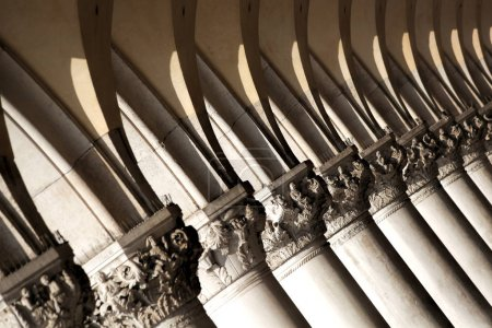 Detail of Doge palace in Venice, Italy...