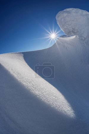 Photo for Amazing winter scenery with sunset - Royalty Free Image