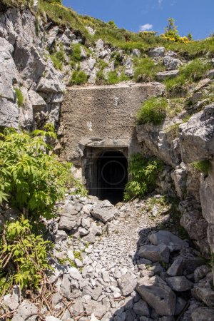 half of entranced into bunker