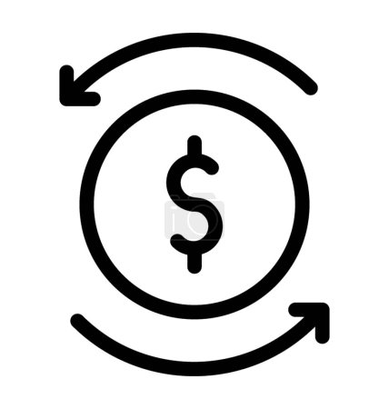 Photo for Line money flow icon vector - Royalty Free Image