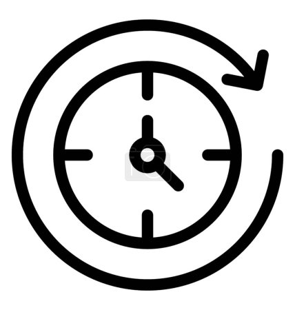 Photo for Line reload time icon vector - Royalty Free Image