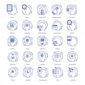 This is a creative set of intelligence It is an amazing and next level icon set to be used in related projects Completely editable and easy to download