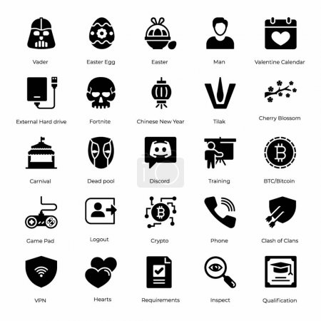 Ultimate glyph icons pack having charming visuals ...