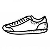 Shoe icon isolated on white background