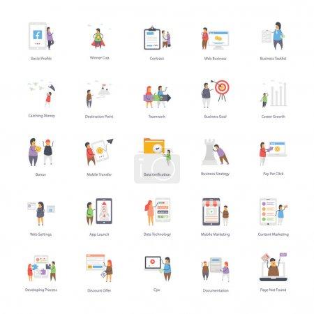 Illustration pour Ici, nous arrivons avec le paquet d'icônes d'hébergement Web. Vous pouvez modifier ces visuels en conséquence. Profitez du téléchargement . - image libre de droit