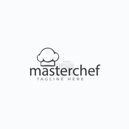 Illustration pour Conception de logo simple mais étonnante pour vous démarquer dans l'industrie alimentaire. Si vous cherchez un vecteur de logo étonnant, jetez un oeil à ce logo de chef cuisinier. Il est modifiable et personnalisable selon vos besoins . - image libre de droit