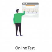 Online tes illustration flat vector