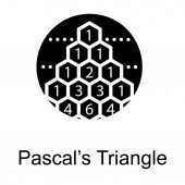 Pascal triangle symbol in solid design vector