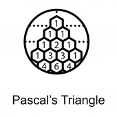 Pascal triangle symbol in line design vector
