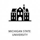 Glyph icon of michigan state university building