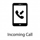 Incoming calling concept in filled design