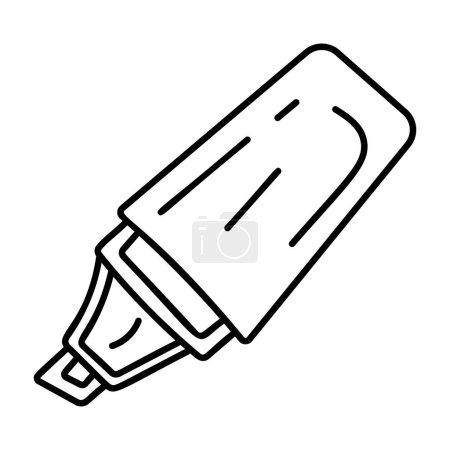 Photo pour Hand drawn design of highlighter pen - image libre de droit