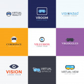 A pack of virtual reality logos is fulfilling each demand of brand advertisement either for your online trade or any of your design assignment