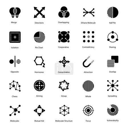 Photo pour Abstract symbols is portraying best pack which is in your reach now. You can create a perfect project by utilizing these visuals which are in editable form. Vectors are available for instant downloading! - image libre de droit