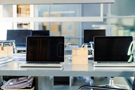 Photo for Workspace, Modern Office Interior - Royalty Free Image