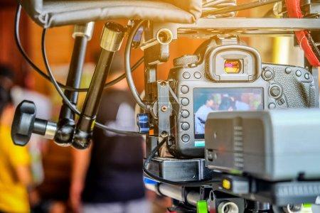 Photo pour Image de détail de tournage vidéo professionnel - image libre de droit