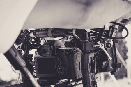 Photo for Behind the scenes background, Film production crew - Royalty Free Image