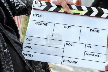 Photo pour Derrière l'arrière-plan des scènes de tournage - image libre de droit