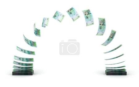 Photo pour Transfert Pesos Colombiens (isolé avec chemin de coupe ) - image libre de droit
