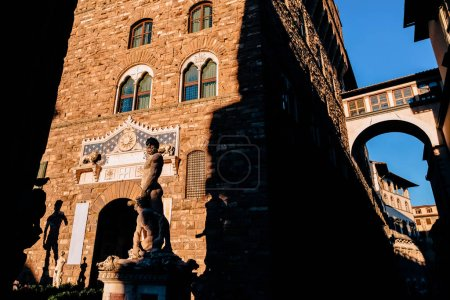 Photo for Famous sculpture of David in Piazza Della Signoria, Florence, Italy - Royalty Free Image