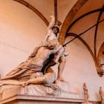 Sculpture Rape Poliksena of Pio Fedi in Loggia de Lanzi, Florence