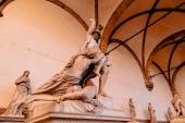 "Постер, картина, фотообои ""Скульптура изнасилования Поликсена Пио Феди в лоджии de Lanzi, Флоренция"""