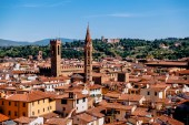 beautiful cityscape with historic buildings and rooftops in florence, italy