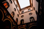 low angle view of beautiful decorated historic building in florence, italy