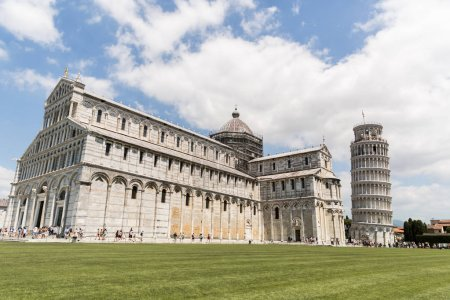 Photo for PISA, ITALY - JULY 14, 2017: Leaning tower on Square of Miracles in Pisa, Italy - Royalty Free Image