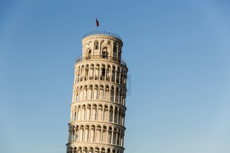 Photo for PISA, ITALY - JULY 14, 2017: Leaning tower with blue sky on background, Pisa, Italy - Royalty Free Image