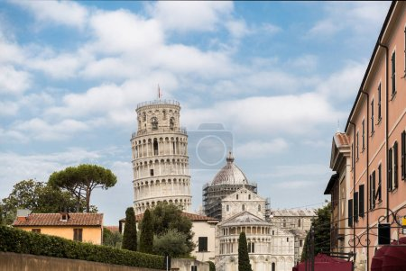 Photo for Leaning tower and buildings on Square of Miracles in Pisa, Italy - Royalty Free Image