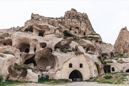 Photo for Caves in limestone at famous goreme national park, cappadocia, turkey - Royalty Free Image