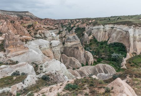 Photo for Scenic view of beautiful rock formations in famous cappadocia, turkey - Royalty Free Image